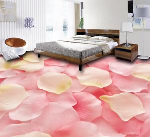 3D Pink Romantic Petal 7 Floor WallPaper Murals Wall Print Decal AJ WALLPAPER US
