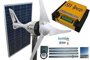 Set-Windgenerator-i-500-PLUS-12V-SOLAR-100W-Laderegler-Tower-Ista-Breeze