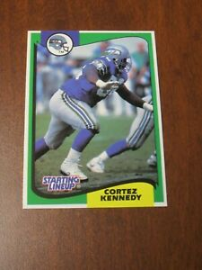 Cortez Kennedy 1994 Kenner Starting Lineup Card - Seattle Seahawks