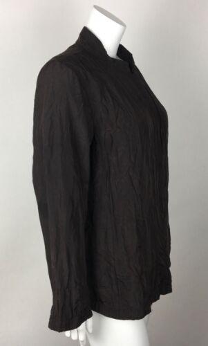 tasche grande in Fisher scuro pieghe e seta Giacca marrone con donna da cotone Eileen CwXWIYq