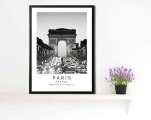 Poster murale, Art, Décoration maison, Champs Elysées, Décoration intérieure