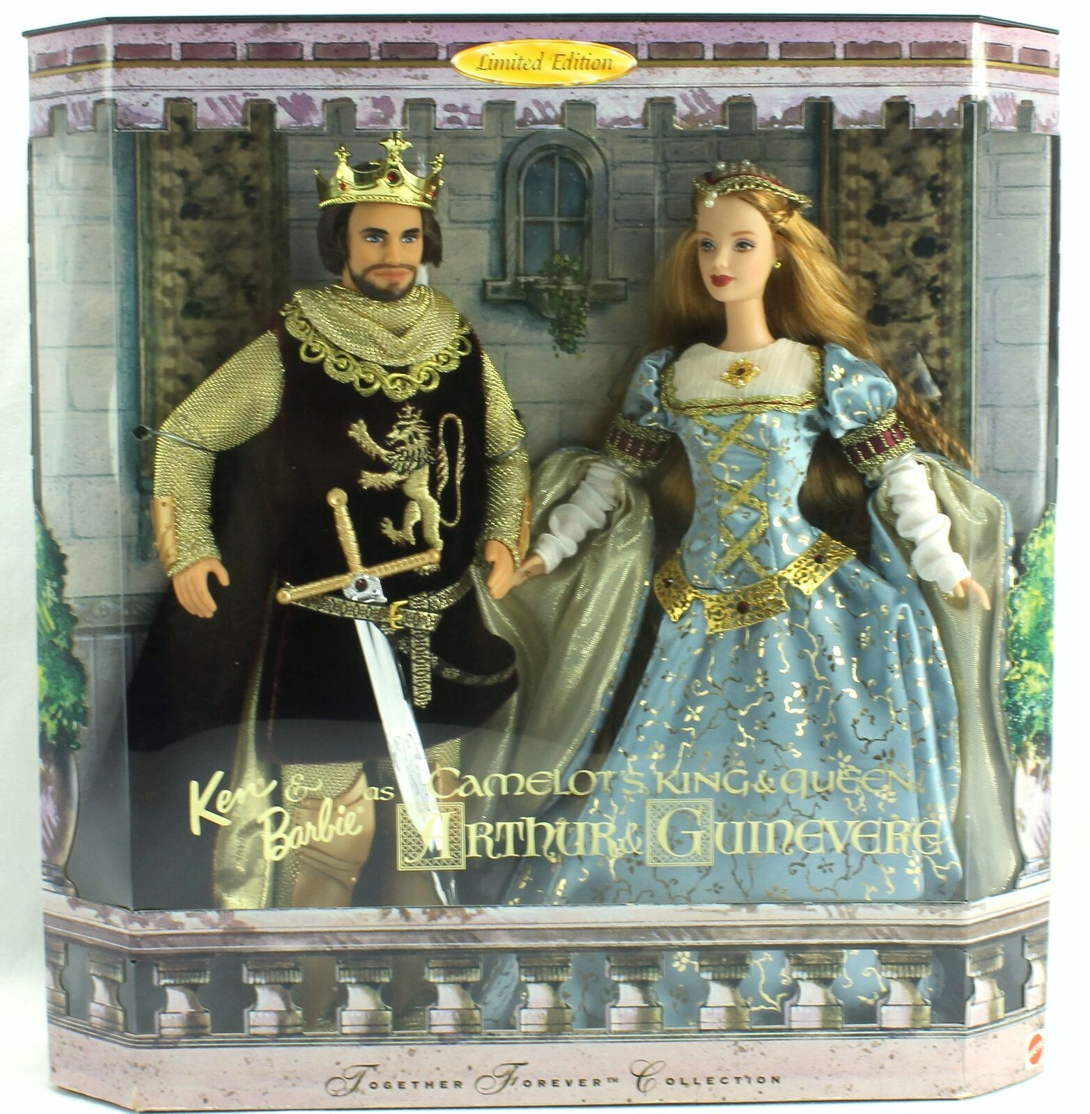 Ken & Barbie Camelot King Arthur Queen Guinevere Together Forever Dolls Ltd Ed