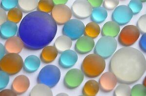 82 Stück bunte Glasnuggets Frost 3 versch. Größen 13-34mm ,ca. 264g,Muggelsteine