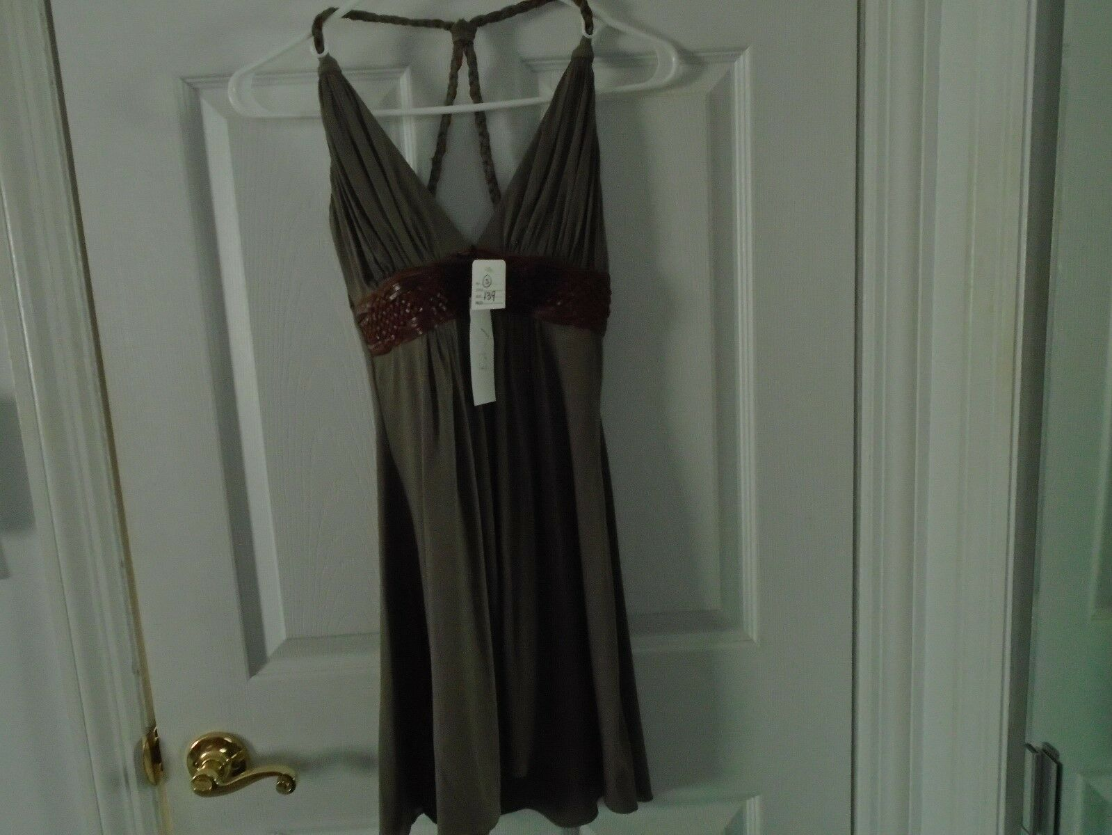 SKY Leather Trimmed Halter Top Size Small New With Tags