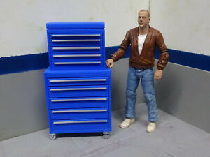 Tool-Box-Blue-amp-Chrome-1-10-scale-Shop-Garage-Crawler-Doll-House-Accessories