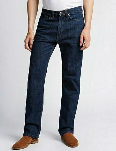 "M/&S Da Uomo Big /& Tall Regolare Stretch Staynew Medium Blue Jeans 46/"" 48/"" 50/"""