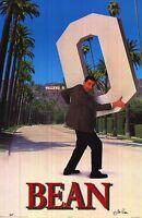 Entertainment Posterrowan Atkinson Mr Bean Movie Print Stealing Hollywood Sign