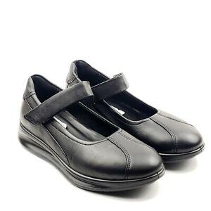 Ecco-Aquet-Women-039-s-Black-Leather-Mary-Jane-Flats-Shoes-Sz-5-US-EU-36-NWB