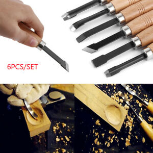 6pcs woodpecker dry hand wood carving tools chip detail chisel set