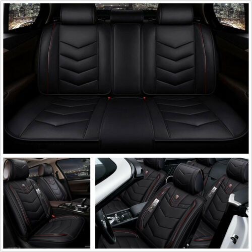 Universal Luxury 6D Full Surrounded PU Leather Car Seat Covers Full Front+Rear