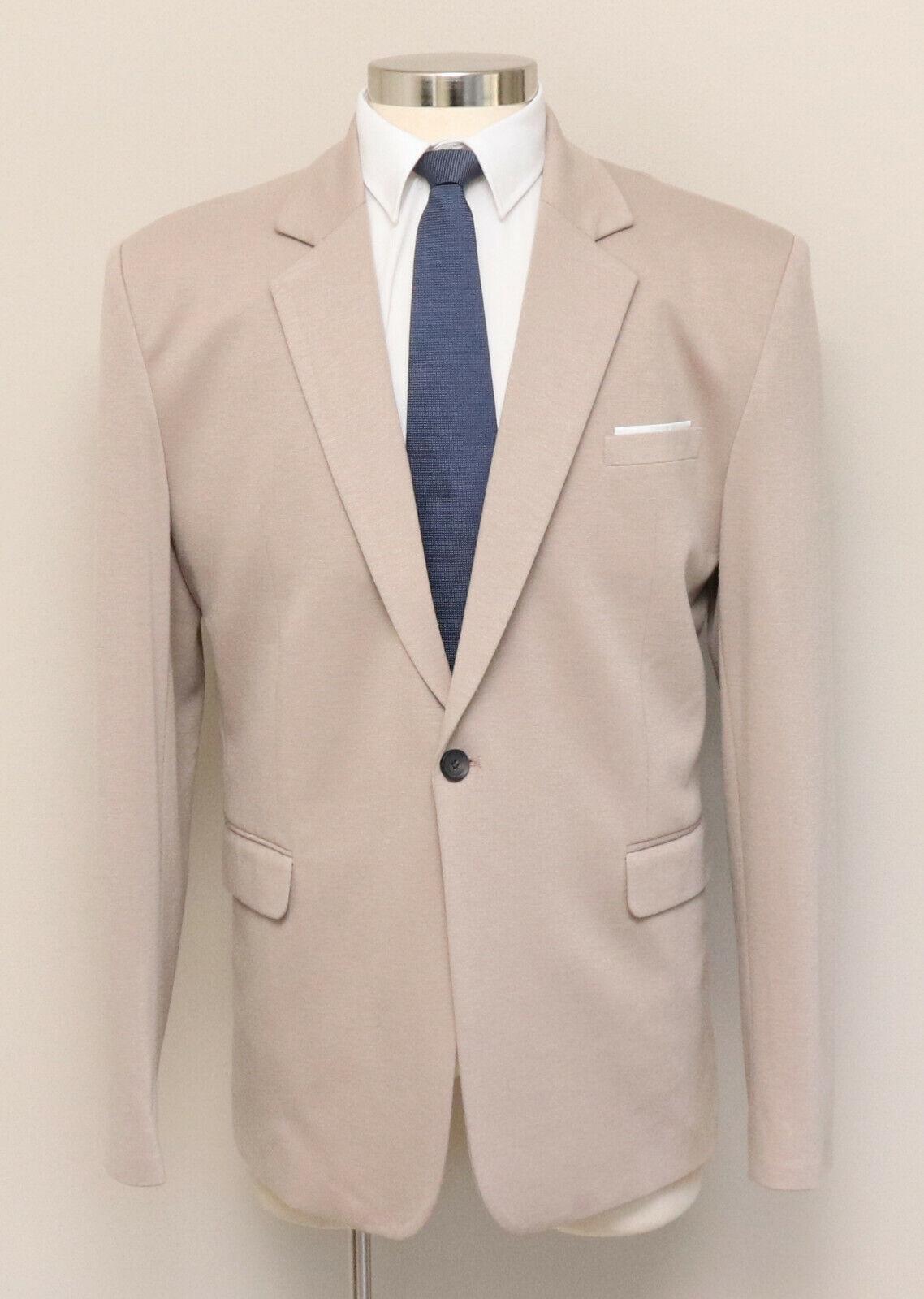 NWOT Mens XXL 46R Flatseven Tan One Button Blazer