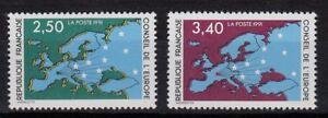 G311-Timbres-Neuf-MNH-TBE-ns-106-amp-107-Service-Conseil-de-l-039-Europe-1991
