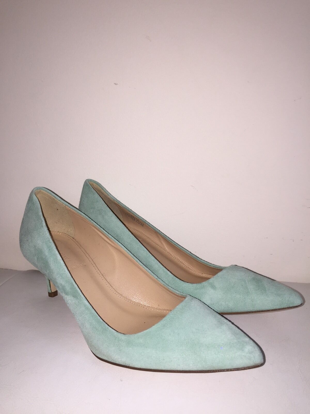 J Crew Dulci Suede Kitten Heels Schuhes green 198 rustic mint green Schuhes 6 a9758 NEW e0c1ba