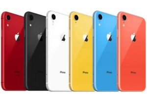 Apple iPhone XR 64GB 128GB Unlocked Verizon AT&T T-Mobile GSM CDMA Smartphone