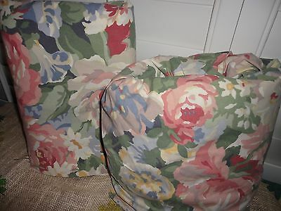 VINTAGE WESTPOINT STEVENS PINK GREEN COUNTRY FLORAL (2PC) KING SHEET SET