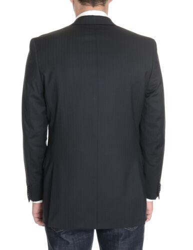 tonal zweifarbiger Alfani Wolle schwarz 100 schmaler schlanker Blazer Roter gestreifter aus wwqgTXxOP