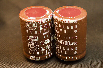 10 PCs Nippon ChemiCon KME 4700uf 80V 105Cel Audio CAPACITORS NCC AMP TUBE HIFI