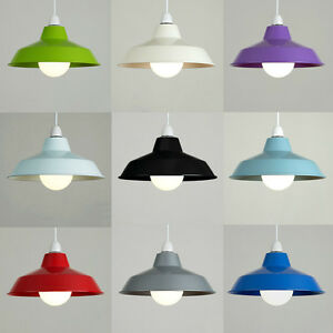 Vintage-Retro-Metal-Cafe-Style-Ceiling-Pendant-Light-Lamp-Shades-Lampshades-NEW