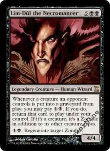 1 PLAYED Lim-Dul the Necromancer Black Time Spiral Mtg Magic Rare 1x x1