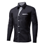 Fashion-Mens-Casual-Shirts-Business-Dress-T-shirt-Long-Sleeve-Slim-Fit-Tops thumbnail 3