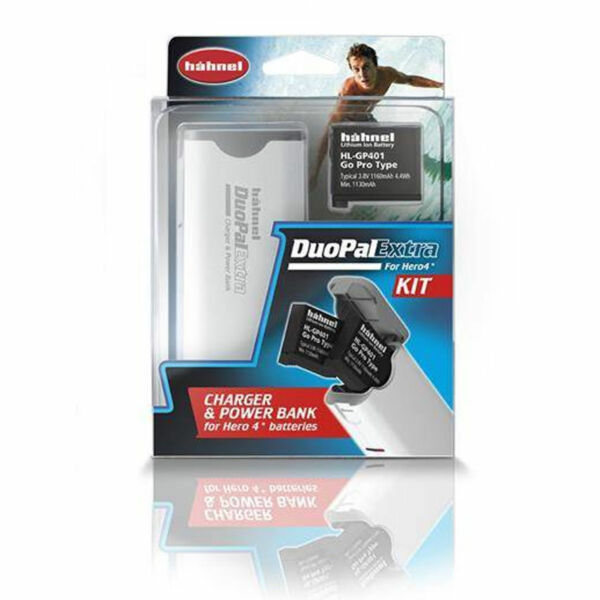 Hahnel Duopal Extra Chargeur Power Bank Kit + Batterie Pour Gopro Hero 4 (uk Stock)