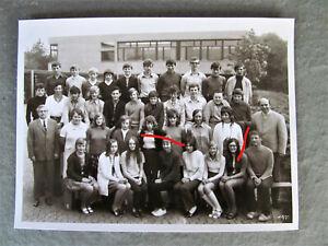Mädchen Buben Schulmädchen Minirock  Klassenfoto 1971 Foto ORIGINAL-x
