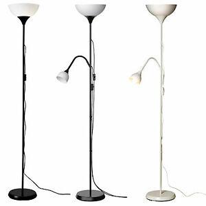 ikea not deckenfluter stehlampe standleuchte lampe leseleuchte schwarz wei neu ebay. Black Bedroom Furniture Sets. Home Design Ideas