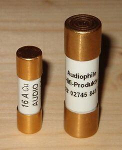 25A-AHP-Sicherung-10x38mm-Fuse-fuer-Klangmodul-III-vergoldet-gold-plated