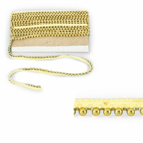 Vestido de encaje 2 M Oro Vintage Perla Con Cuentas Recortar Cinta Manualidades Decoración para Boda De Novia