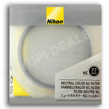 ORGINAL Nikon 77mm Neutral Color NC Filter Lens Protector Clear Filter NC 77-mm