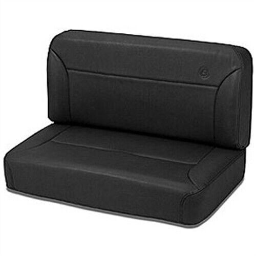 Bestop/® 39437-01 TrailMax II Black Crush All-Vinyl Fixed Rear Bench Seat for 55-95 CJ5 CJ7 and Wrangler YJ