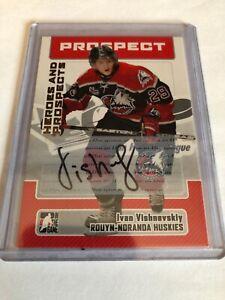 2006-07-ITG-Heroes-And-Prospects-Ivan-Vishnevskiy-Autograph-A-IV
