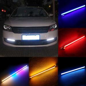 2Pcs-17-cm-Super-Bright-Voiture-DEL-Lumiere-etanche-12-V-COB-DRL-Brouillard-conduite-Lampe-su