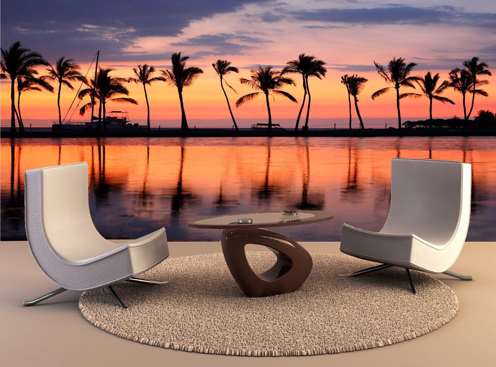 Strand Wandbild Paradise Sonnenuntergang Am Tropische Foto Hintergrund Kunst
