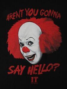 Pennywise-It-The-Movie-Aren-039-T-Voi-Andando-Say-Hello-Medio-Nero-T-SHIRT-C865