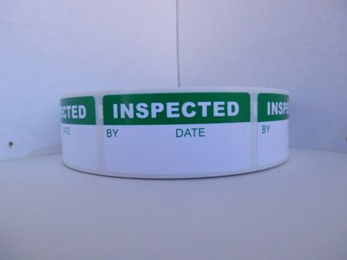 INSPECTED Sticker Label Production Inventory Quality Control Assurance 500//rl