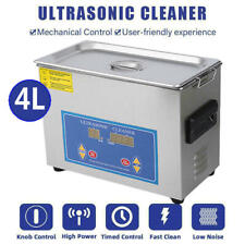 New Commercial 4l Ultrasonic Cleaner Industry Heated Heater With Timer Jewelry Us
