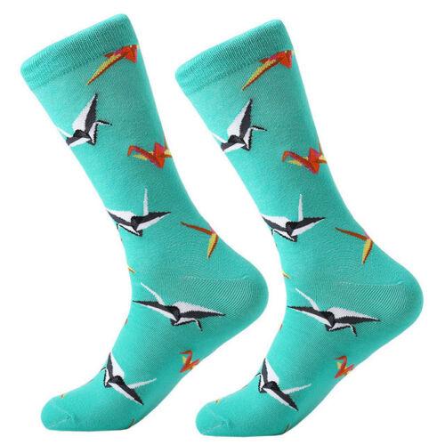 Mens Combed Cotton Socks Fashion Colourful Funny Novelty Crew Socks Wedding Gift