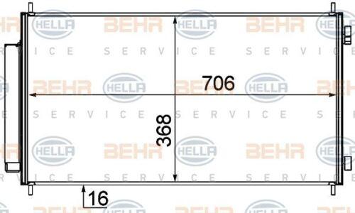 8FC 351 319-231 HELLA Condenser  air conditioning