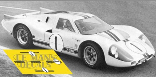 Calcas Ford MkIV Le Mans Test 1967 1:32 1:24 1:43 1:18 64 87  GT40 MkII decals