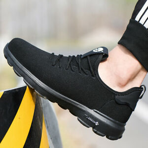 Uk Mens Steel Toe Safety Shoes Trainers Work Boots Sports Hiking Shoes Sneakers
