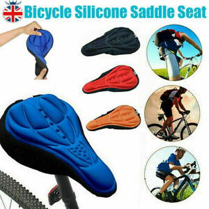 Bike 3D Gel Saddle Seat Cover Bicycle Silicone Soft Comfort Pad Padded Cushion