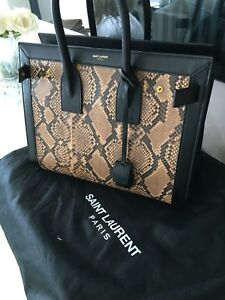 4158c1e980 Saint Laurent Sac du Jour black bag w  python leather Yves Saint ...