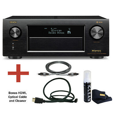 Denon AVR-X4300H 9.2 Channel 4K Ultra HD AV Receiver with Bluetooth Bundle.