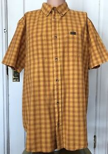 Guide-Series-Shirt-Mens-Size-LT-Large-Tall-Orange-Short-Sleeve-L-T-Cotton