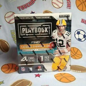 2019-Panini-Playbook-Football-Hobby-Box-4-Autos-or-Mem-Including-Booklet-Last-1