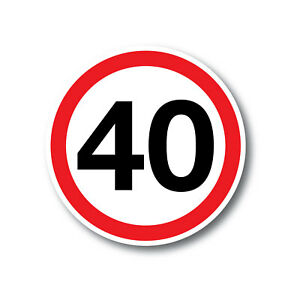 40 Km per hour bus safety sticker water/fade proof 7yr vinyl