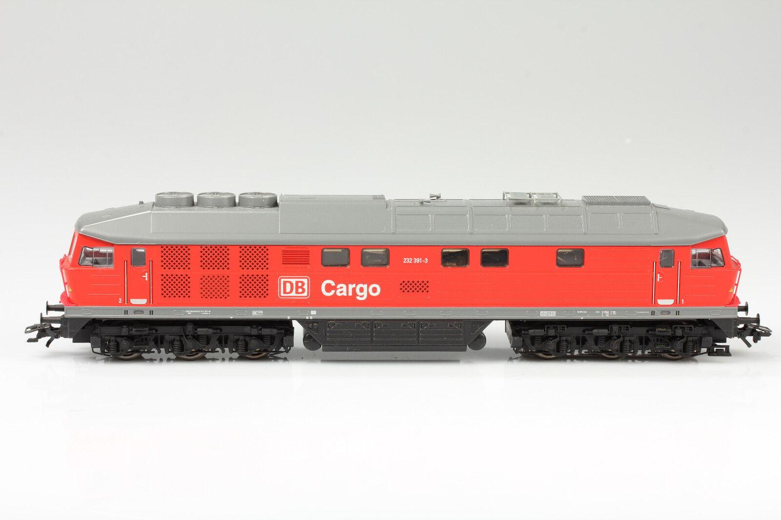 Märklin H0 Diesellok DB Cargo 232 391-3 dig. läuft&Licht ok Schmutz Kratzer OVP