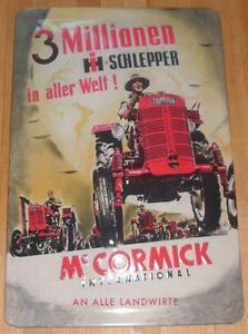 """Prägeschild aus Metall /""""IHC/""""-Nostalgie Schild IHC"""