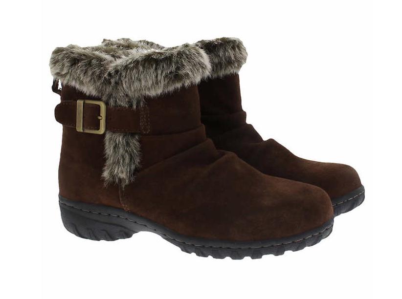 KHOMBU LINDSEY Women's Faux Fur Lined Boot, Brown, Sz 10M